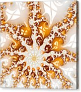 Golden Brown And White Luxe Abstract Art Acrylic Print