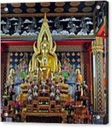 Golden Buddha Acrylic Print