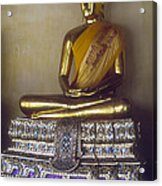 Golden Buddha On Pedestal Acrylic Print