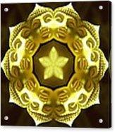 Golden Buddha Star Acrylic Print