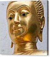 Golden Buddha Statue Acrylic Print