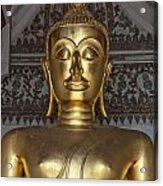 Golden Buddha Temple Statue Acrylic Print