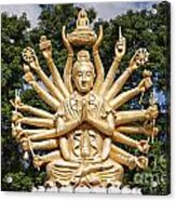 Golden Buddha With Many Arms Acrylic Print