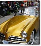 Golden Car Acrylic Print