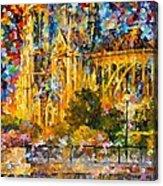 Golden Castle Acrylic Print