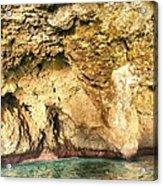 Golden Cave Acrylic Print