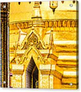 Golden Chedi - Temple Of The Emerald Buddha Acrylic Print by Colin Utz