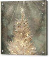 Golden Christmas Tree Acrylic Print