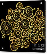 Golden Circles Black Acrylic Print