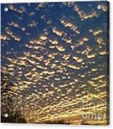 Golden Clouds Acrylic Print