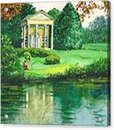 Golden Cottage Acrylic Print