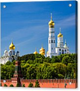 Golden Domes Of Moscow Kremlin - Featured 3 Acrylic Print