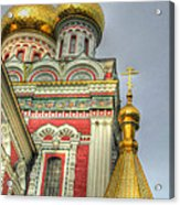 Golden Domes Of Russian Church Acrylic Print