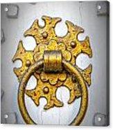 Golden Door Knocker Vignette Acrylic Print