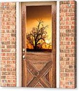 Golden Doorway Window View Acrylic Print