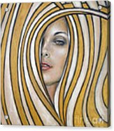 Golden Dream 060809 Acrylic Print by Selena Boron