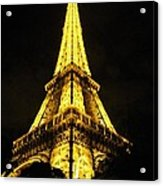 Golden Eiffel Tower Acrylic Print