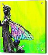 Golden Fairy Acrylic Print
