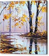 Golden Fall Acrylic Print by Graham Gercken