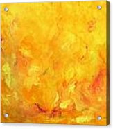 Golden Flames Acrylic Print