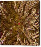 Golden Flower - Ruby Heart Acrylic Print