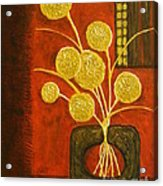 Golden Flowers Acrylic Print