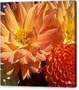 Golden Flowers Upclose  Acrylic Print