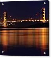 Golden Gate Bridge After Dark Acrylic Print