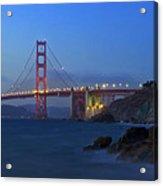 Golden Gate Bridge After Sunset Acrylic Print