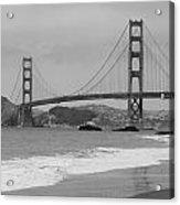 Golden Gate Bridge And Beach Acrylic Print