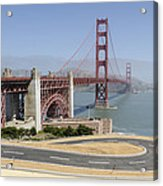 Golden Gate Bridge And Bike Path Acrylic Print