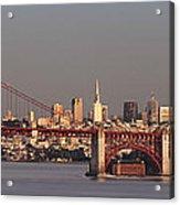 Golden Gate Bridge And San Francisco Panoramic Acrylic Print