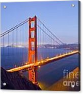 Golden Gate Bridge At Dusk Acrylic Print