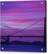 Golden Gate Bridge At Twilight Acrylic Print