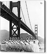 Golden Gate Bridge Ballet Acrylic Print