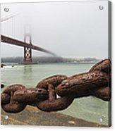 Golden Gate Bridge Chain Acrylic Print
