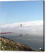 Golden Gate Bridge Emerging From The Fog Acrylic Print