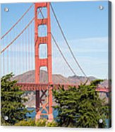 Golden Gate Bridge In San Francisco Acrylic Print