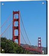 Golden Gate Bridge In Spring Acrylic Print