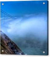 Golden Gate Bridge In The Fog Acrylic Print