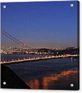 Golden Gate Bridge On A Beautiful Winter Evening Acrylic Print