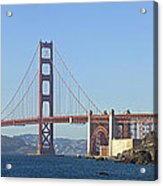 Golden Gate Bridge Panoramic Acrylic Print by Melanie Viola