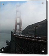 Golden Gate Bridge Pylons In A Mist Acrylic Print