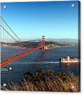 Golden Gate Bridge Scenic View In San Francisco Acrylic Print