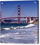 Golden Gate Bridge - Seen From Baker Beach Acrylic Print