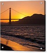Golden Gate Bridge Sunset Acrylic Print