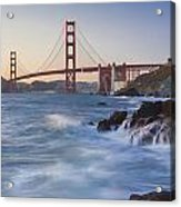 Golden Gate Bridge Sunset Study 5 Acrylic Print