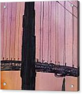 Golden Gate Bridge Tower Acrylic Print by Anais DelaVega