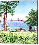 Golden Gate Bridge View From Lincoln Park San Francisco Acrylic Print