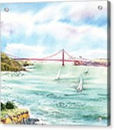 Golden Gate Bridge View From Point Bonita Acrylic Print by Irina Sztukowski